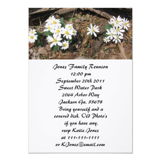 White Wild Flower Family Reunion Invitations