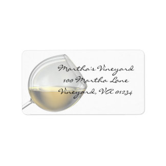 White Wine Address Label Stickers