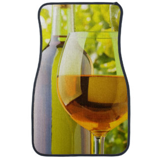 White Wine And Grapes Car Mat