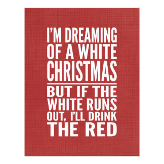 White Wine Christmas - but Okay with the Red Letterhead