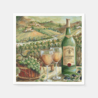 White Wine Lovers Paper Napkins