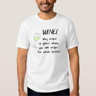 White Wine Order Whole Bottle Green Black Funny Tees