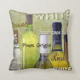 White Wine Pillow, Copyright Karen J Williams Throw Pillow