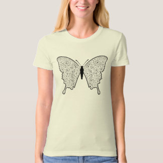 White Wing Spiral Butterfly T-Shirt