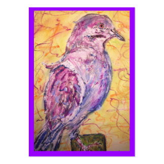 White-winged Dove art Large Business Card