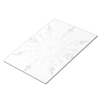 White Winter Snowflake Notepad