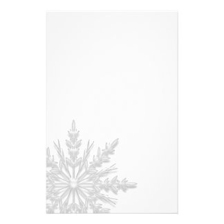 White Winter Snowflake Stationery Design
