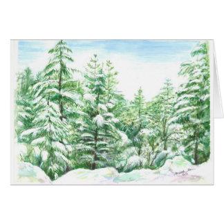 White winter wonderland on Mt. Shasta Card