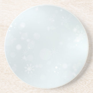 White Winter Wonderland with Snowflakes Coaster