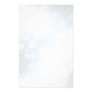 White Winter Wonderland with Snowflakes Customized Stationery
