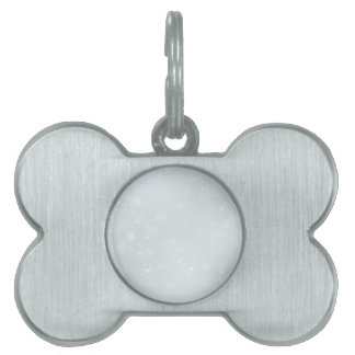 White Winter Wonderland with Snowflakes Pet Tags