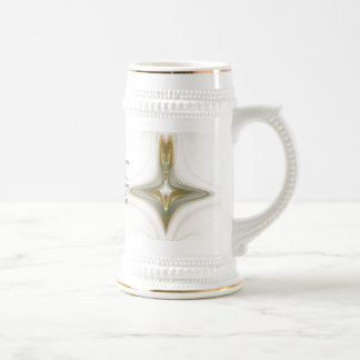 White Witch Bottle Abstract Art 18 Oz Beer Stein