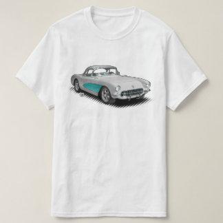 White with Aqua 56-57 StingVetteRay t-shirt