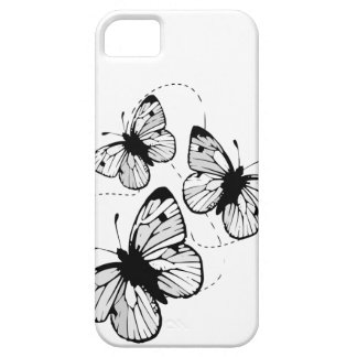 White with  black butterflies iPhone 5 Case-Mat iPhone 5 Cover