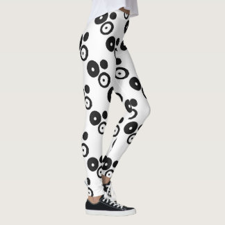 White with Black Dots Leggings