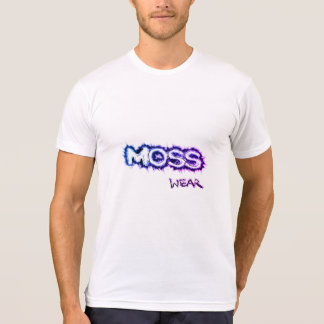 White with Blue and Purple Moss Wear logo T-Shirt