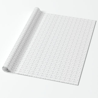 White with Gray Snowflakes Wrapping Paper