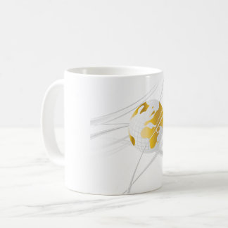 White With Grey Globe Mug