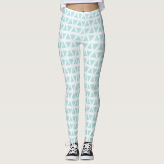 White with Mint Triangle Leggings