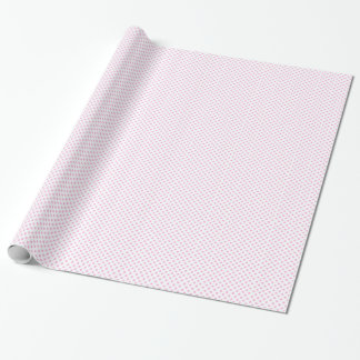 White with Pink Polka Dot Wrapping Paper