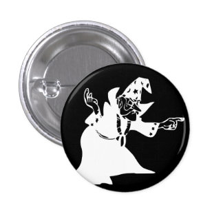 White Wizard 1 Inch Round Button