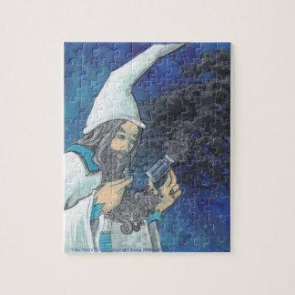 White Wizard and Dark Clouds Fantasy Art puzzle