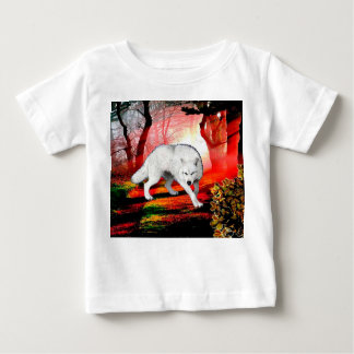 White wolf - arctic wolf - american wolf baby T-Shirt