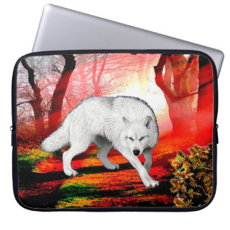 White wolf - arctic wolf - american wolf laptop sleeve