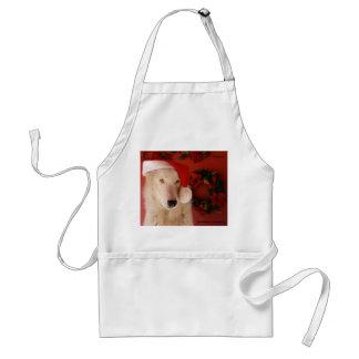 White Wolf Christmas Apron