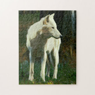 White Wolf Painting Jigsaw Puzzle