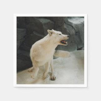 White Wolf Paper Napkins