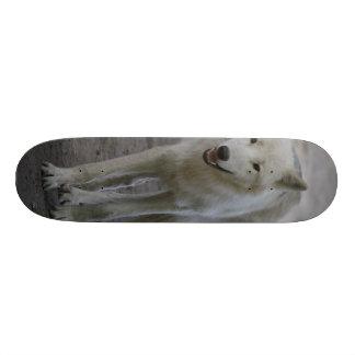 white wolf skateboard decks