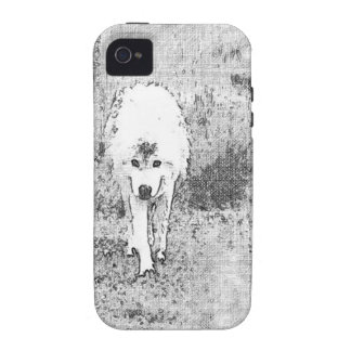 White Wolf Sketch in Pen and Ink Case-Mate iPhone 4 Case