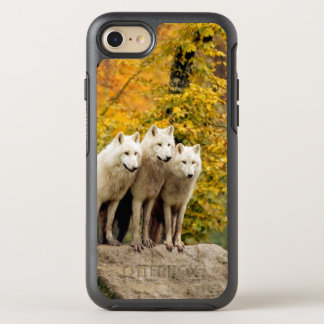White wolf - snow wolf - wolf animal OtterBox symmetry iPhone 8/7 case