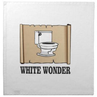 white wonder john napkin