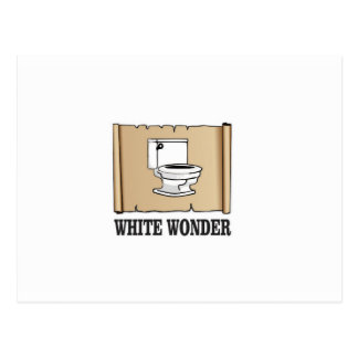 white wonder john postcard