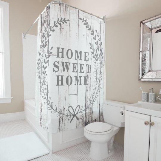 White Wood Rustic Farmhouse Home Sweet Home