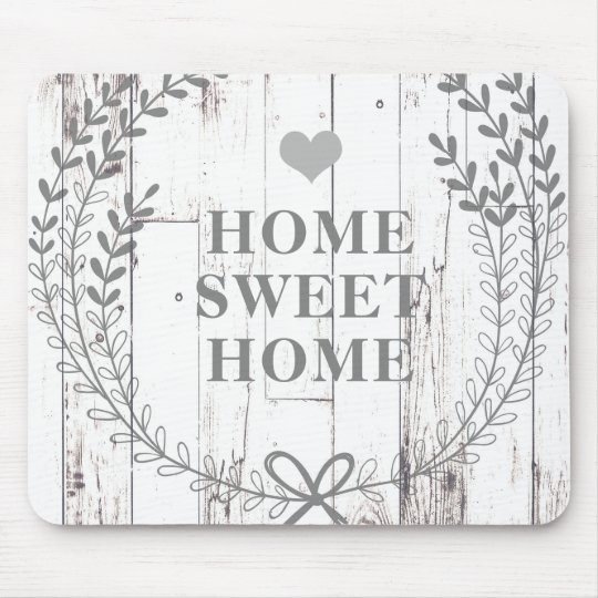 White Wood Rustic Farmhouse Shabby Chic Custom Mouse Pad