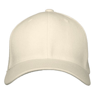 White wool cap embroidered hat