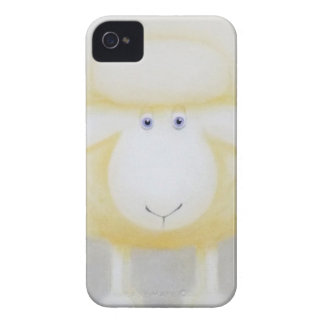 White Woolly Sheep For Ewe Case-Mate iPhone 4 Case