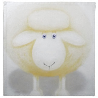 White Woolly Sheep For Ewe Napkin