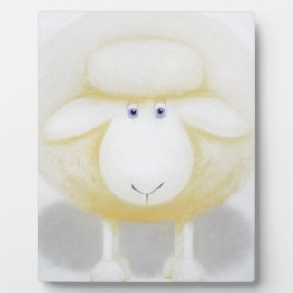 White Woolly Sheep For Ewe Plaque