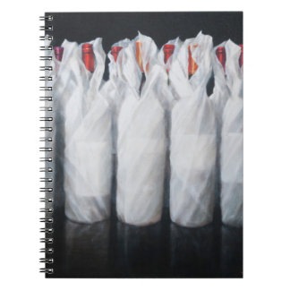 White Wrapped Wine 2012 Notebooks