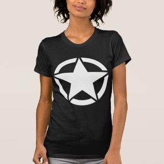 White WWII Jeep Star - Segmented T-Shirt