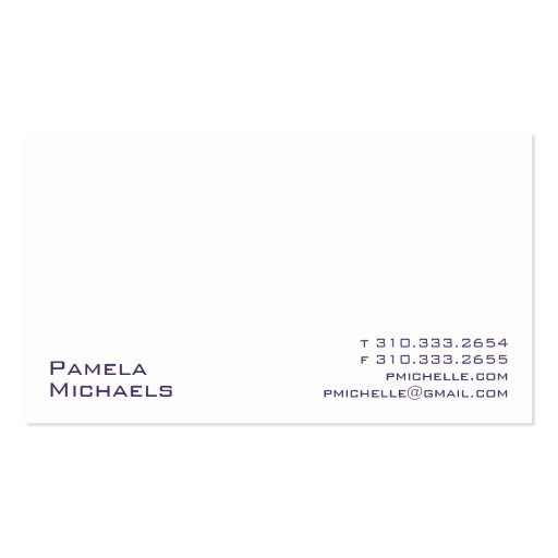 White XV Business Card Templates
