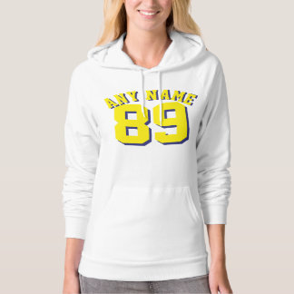 White & Yellow Adults | Sports Jersey Design Hoodie