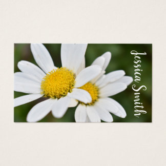White Yellow Daisy Flower Daisies Nature Photo Business Card