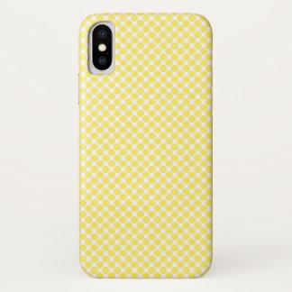 White Yellow Lemon Fruit Pattern iPhone X Case