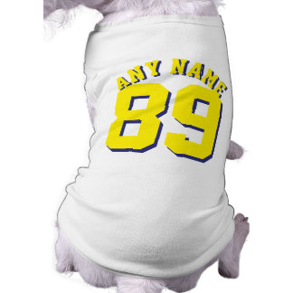 White & Yellow Pets | Dog Sports Jersey Design Shirt