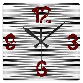 White Zebra Designed Clock